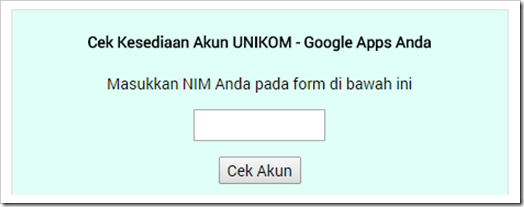 Acount UNIKOM Google Apps for Education 2