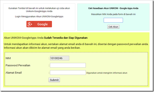 Acount UNIKOM Google Apps for Education 3