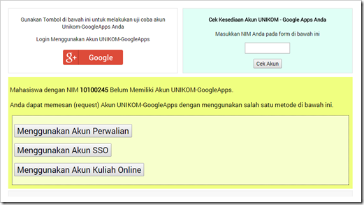 Acount UNIKOM Google Apps for Education 5