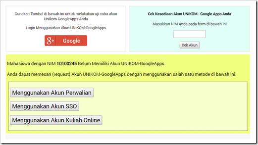 Acount UNIKOM Google Apps for Education 5
