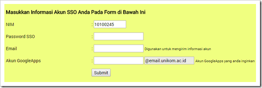 Acount UNIKOM Google Apps for Education 7