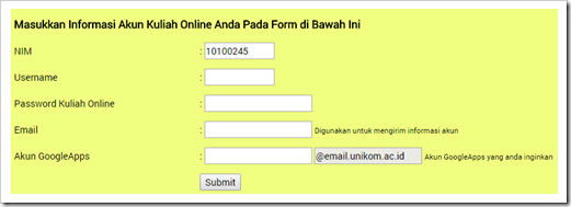 Acount UNIKOM Google Apps for Education 8