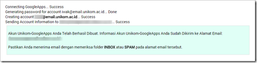 Acount UNIKOM Google Apps for Education 9