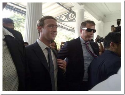 Mark Zuckerberg tiba di Balai Kota DKI Jakarta