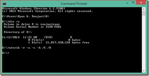 Mengembalikan Data yang Terkena Virus Shortcut 4