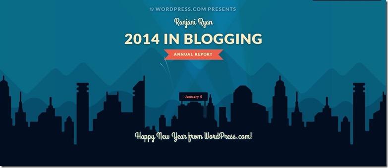 New Post Blog Report - RanjaniRyan