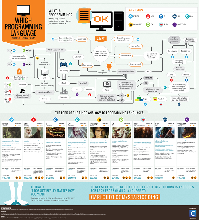 Infographic Which Programming Language Should I Learn