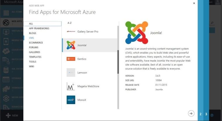 Deploy Joomla Using Windows Aazure -2