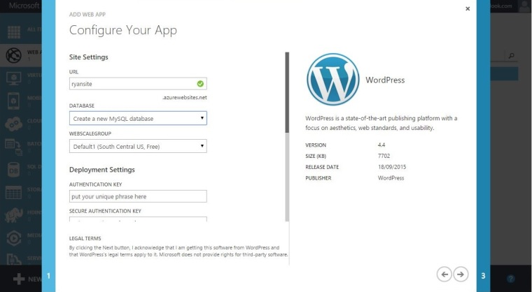 Deploy WordPress With Azure-3