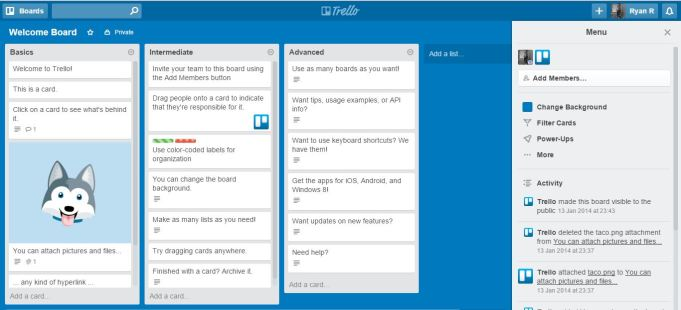 Project Managemen Tools dengan Trello - welcome board trello
